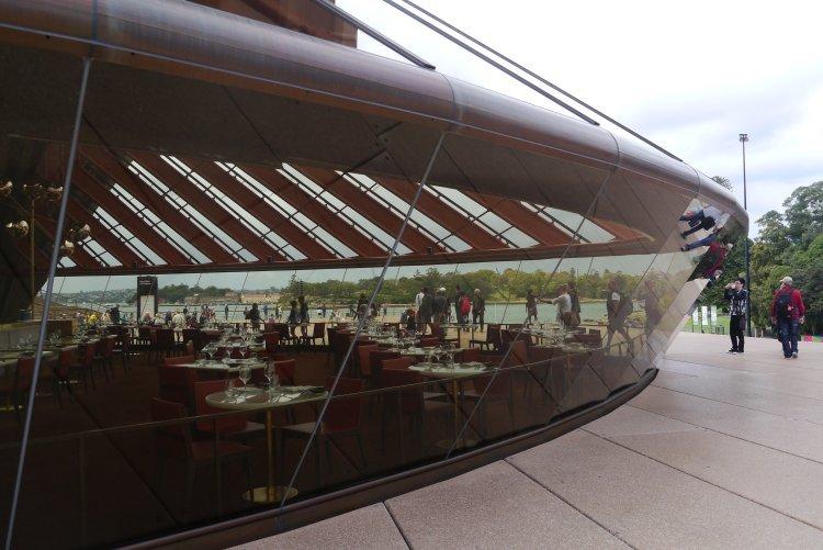Image of restaurant inside Sydney Opera House Australia