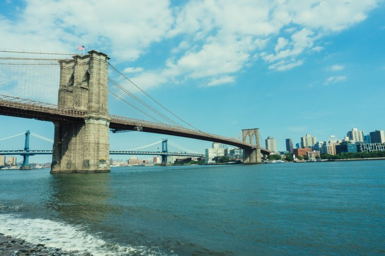 Image of Brooklyn Bridge from New York side