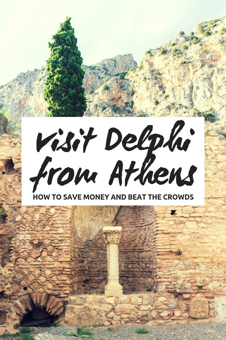 You don't have to take a day tour to visit Delphi from Athens, by taking the public bus and staying overnight you can save money and beat the crowds!