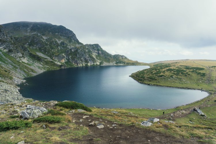 Kidney lake; one of the 7 Rila Lakes in Bulgaria, named for its shape.