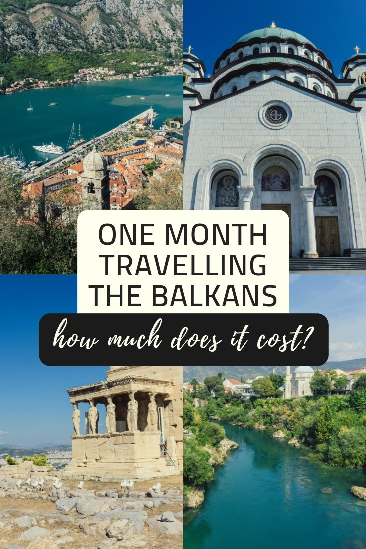 Discover the real cost of taking a backpacking trip around the Balkans, travelling through Greece, Bulgaria, Serbia, Bosnia and Herzegovina, Croatia and Montenegro in one month.