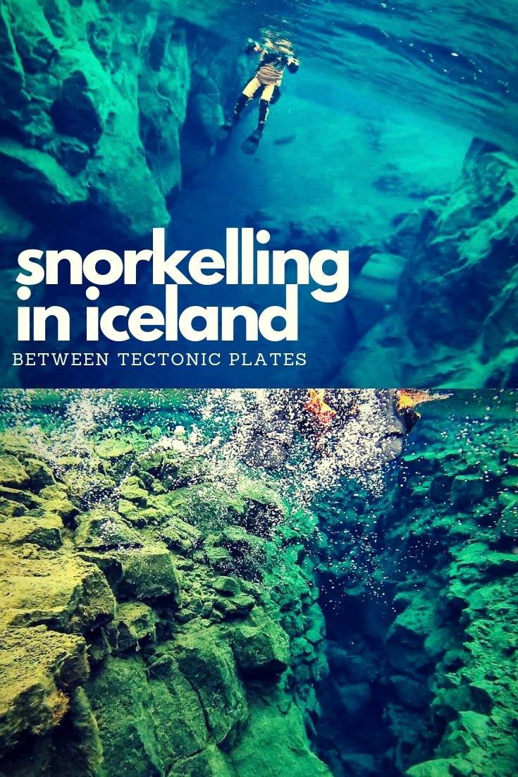 If you're looking for a totally unique travel experience look no further than snorkelling in silfra fissure in Iceland - where two tectonic plates meet!